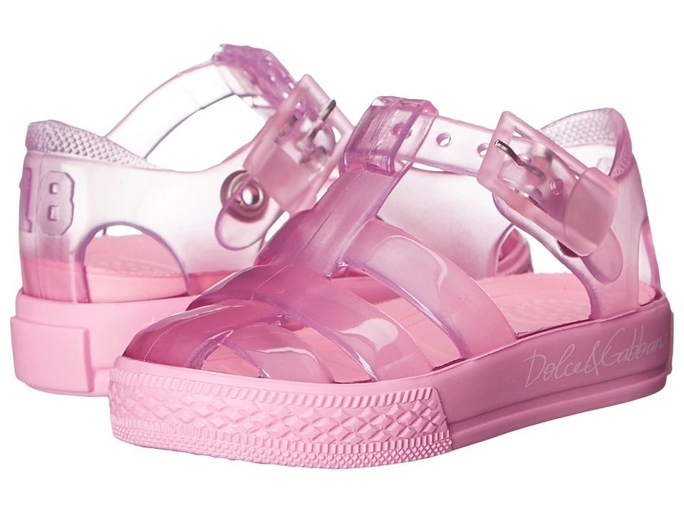 Dolce amp Gabbana Kids Beach Transparent Sandal Infant/Toddler/Little Kid Geranium Girls Shoes