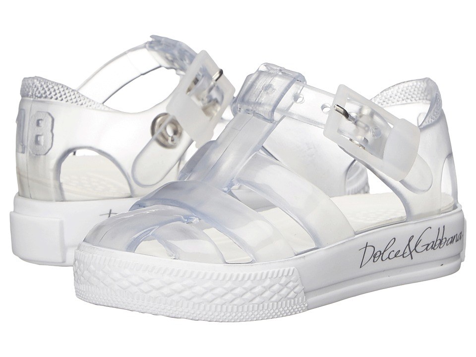 Dolce amp Gabbana Kids Beach Transparent Sandal Infant/Toddler/Little Kid Clear Girls Shoes