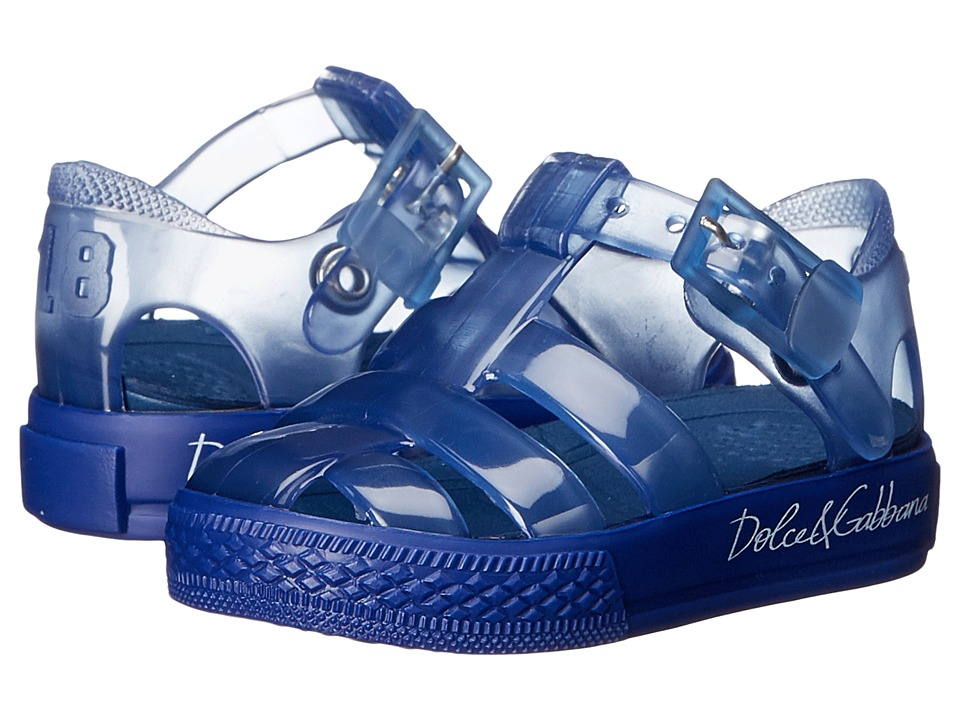 Dolce amp Gabbana Kids Beach Transparent Sandal Infant/Toddler/Little Kid Bluette Girls Shoes