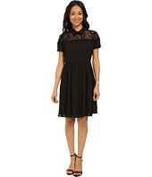 KUT from the Kloth - Peter Pan Collar Shirred Dress
