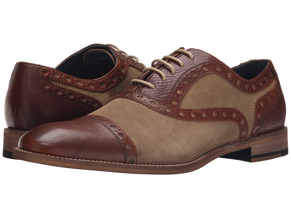 Gordon Rush - Logan SandBrown Mens Lace up casual Shoes $175.00 AT vintagedancer.com