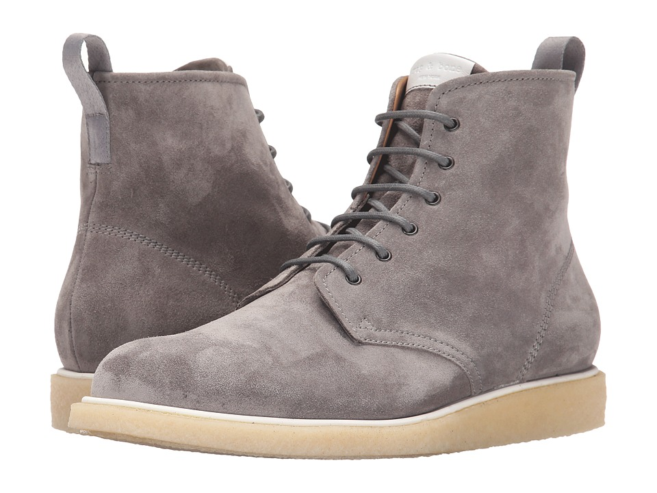 rag amp bone Elliot Lace Boot Grey Mens Boots