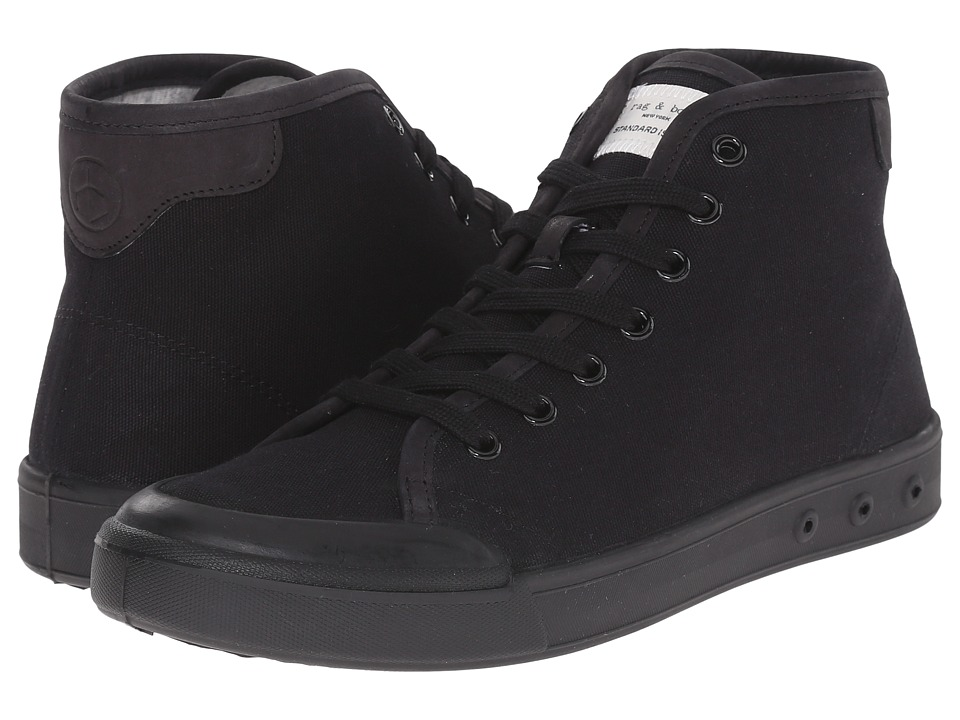 rag amp bone Standard Issue High Top Black Mens Shoes