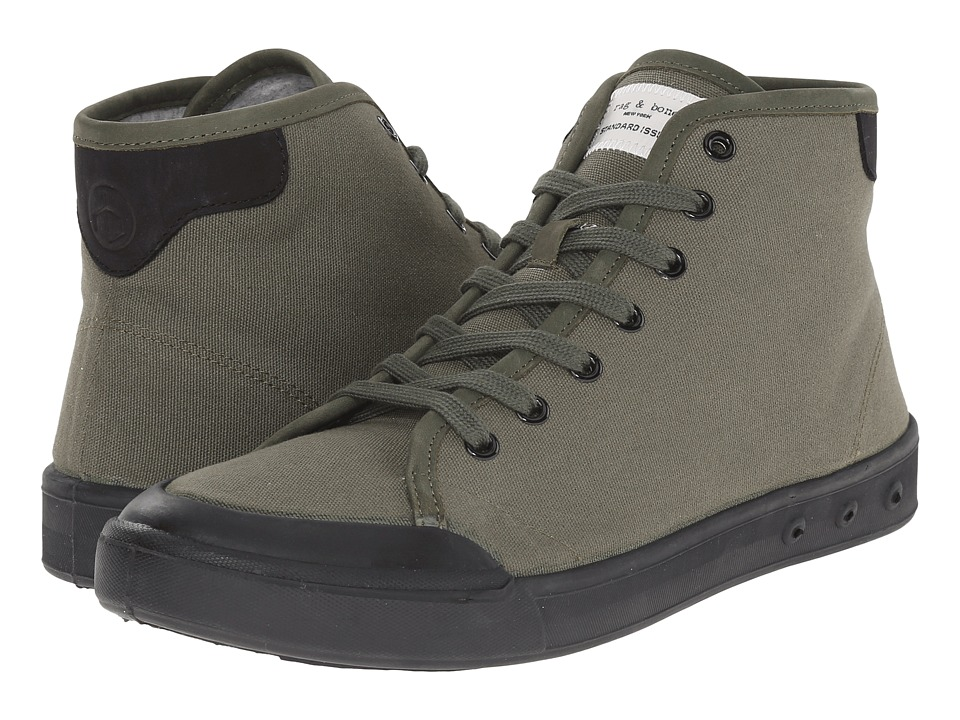 rag amp bone Standard Issue High Top Olive/Black Mens Shoes