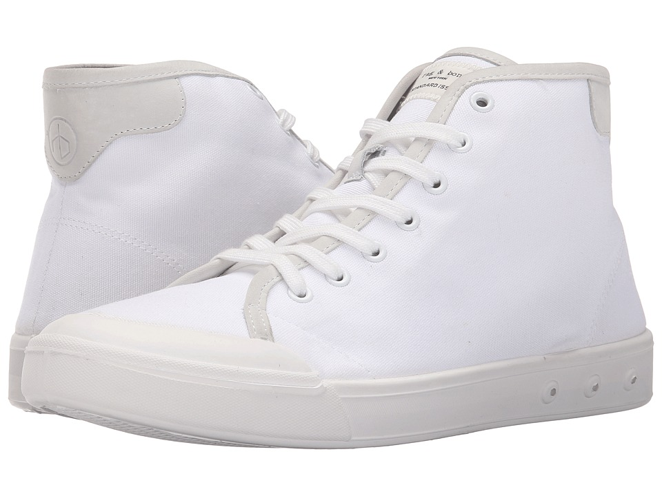 rag amp bone Standard Issue High Top White Mens Shoes
