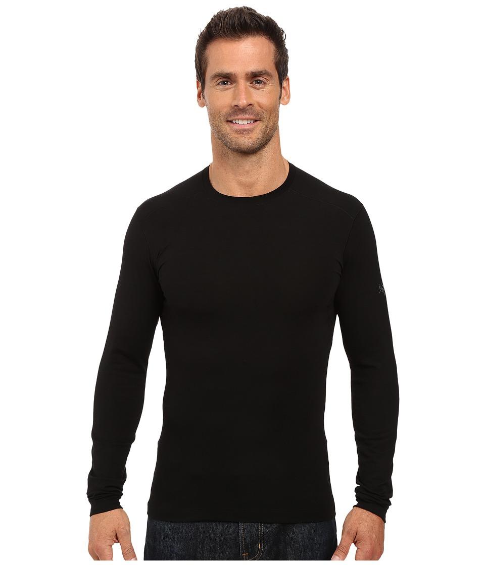 Arc'Teryx Satoro AR Crew Long Sleeve (Black) Men's Clothing