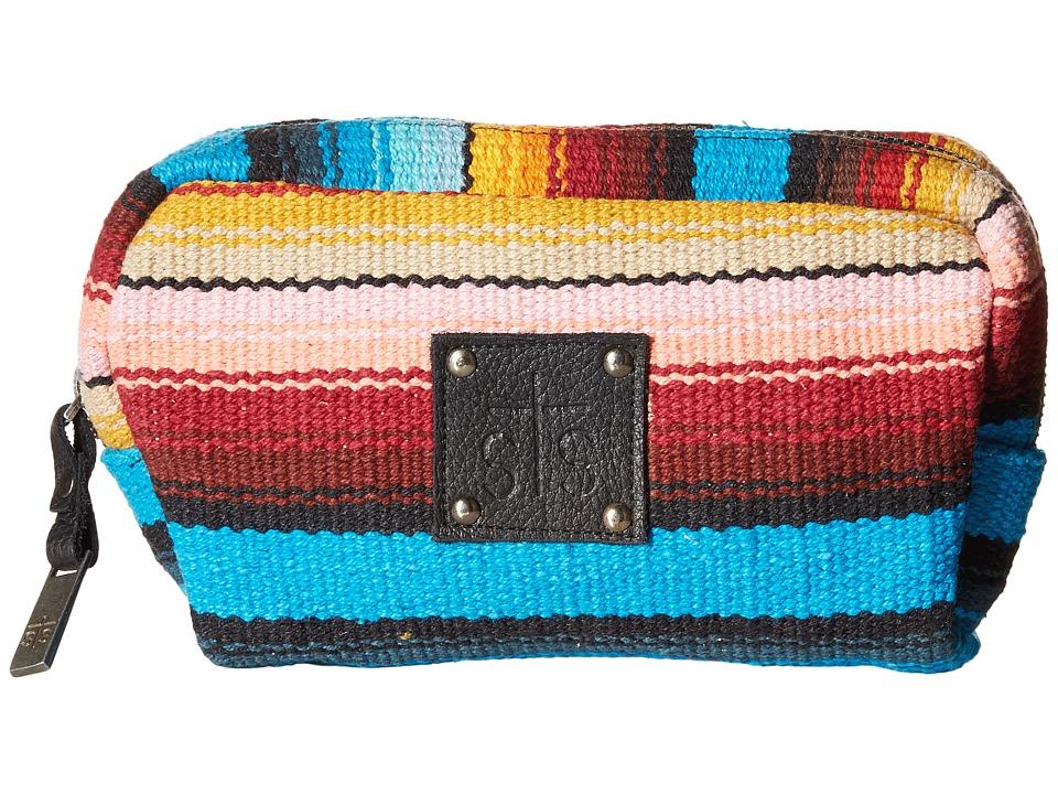 STS Ranchwear The Bebe Serape Cosmetic Bag Blue/Multi Serape Blanket Cosmetic Case