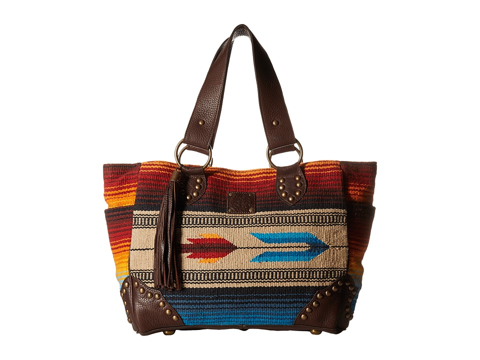 STS Ranchwear - The Sabrina Serape Shopper Tote (Blue/Multi Serape Blanket) Tote Handbags