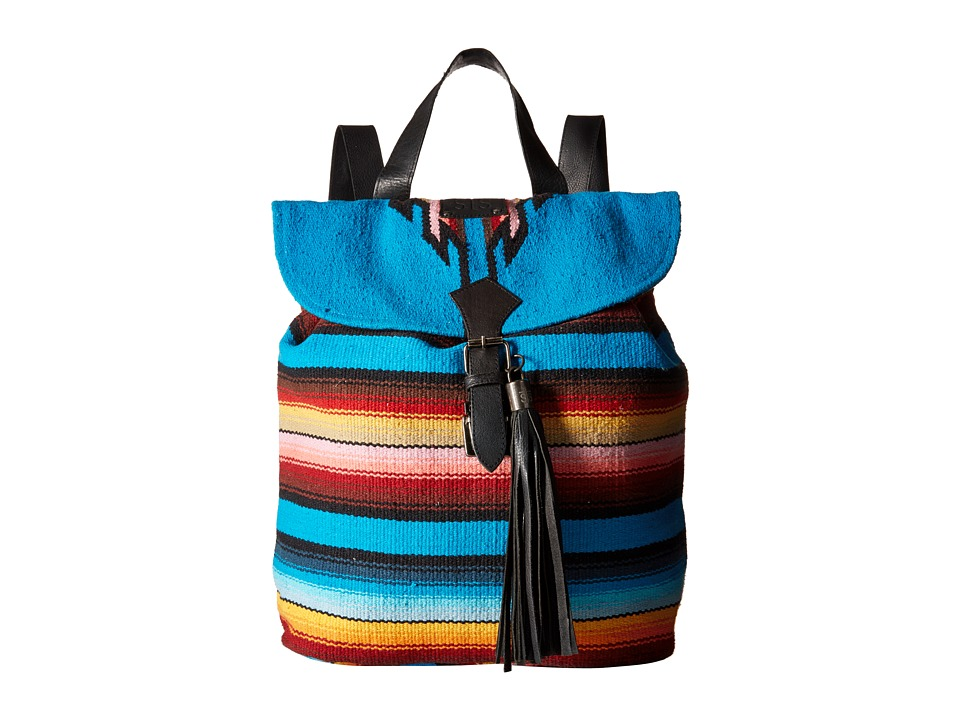 STS Ranchwear - The Tejana Serape Backpack (Blue/Multi Serape Blanket) Backpack Bags