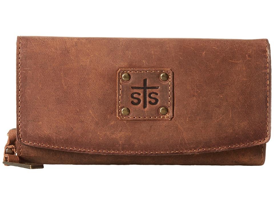 STS Ranchwear - The Baroness Tri-Fold Wallet (Brown) Wallet Handbags
