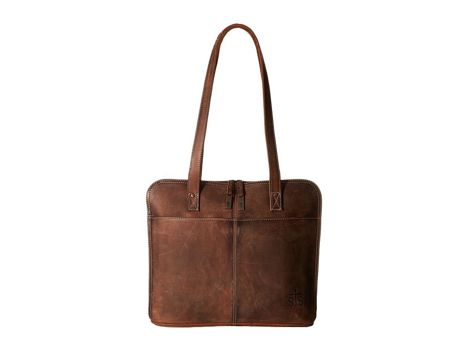 STS Ranchwear - The Baroness Laptop Shopper (Brown) Computer Bags