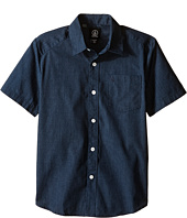 Volcom Kids - Everett Solid Short Sleeve Shirt (Big Kids)