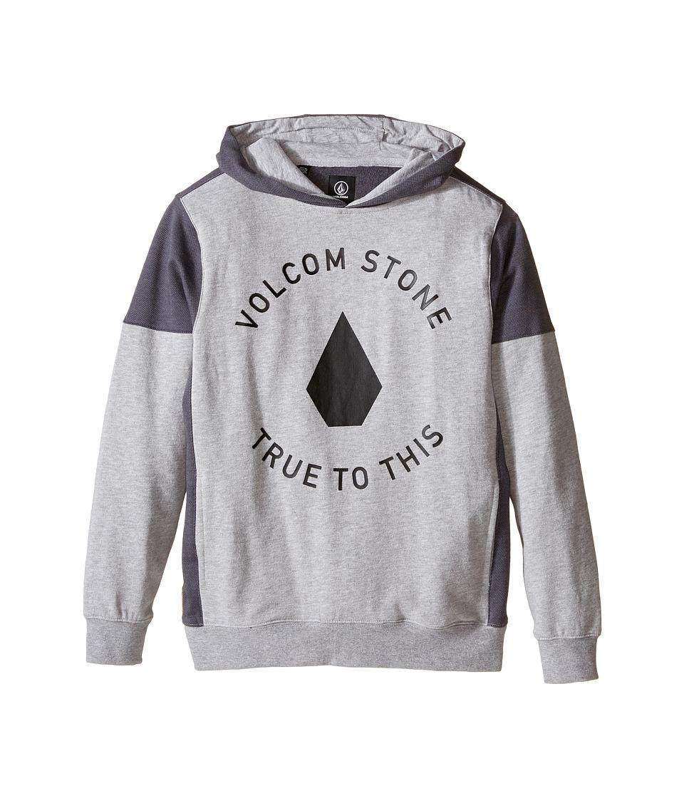 Volcom Kids Formation Pullover Big Kids Heather Grey Boys Sweatshirt