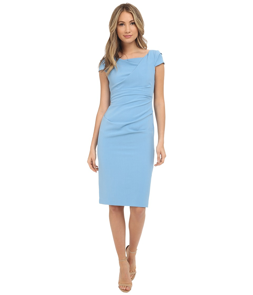 Adrianna Papell Cowl Side Rusched Sheath Dress Atlantic Womens Dress
