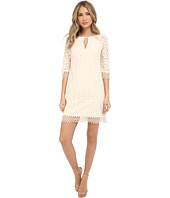 Adrianna Papell - Split Neck Raglan Shift Dress