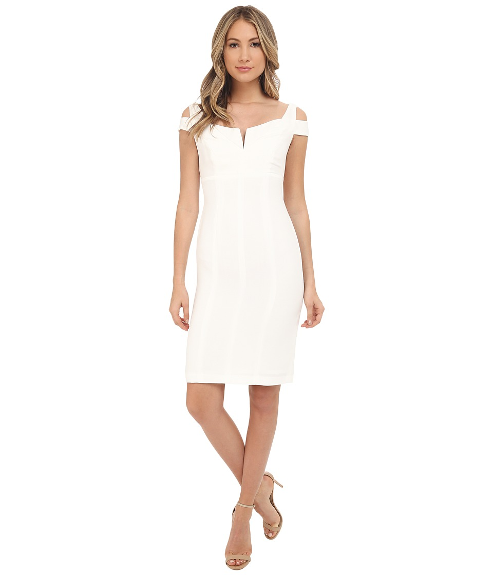 Adrianna Papell - Solid Crepe Empire Dress