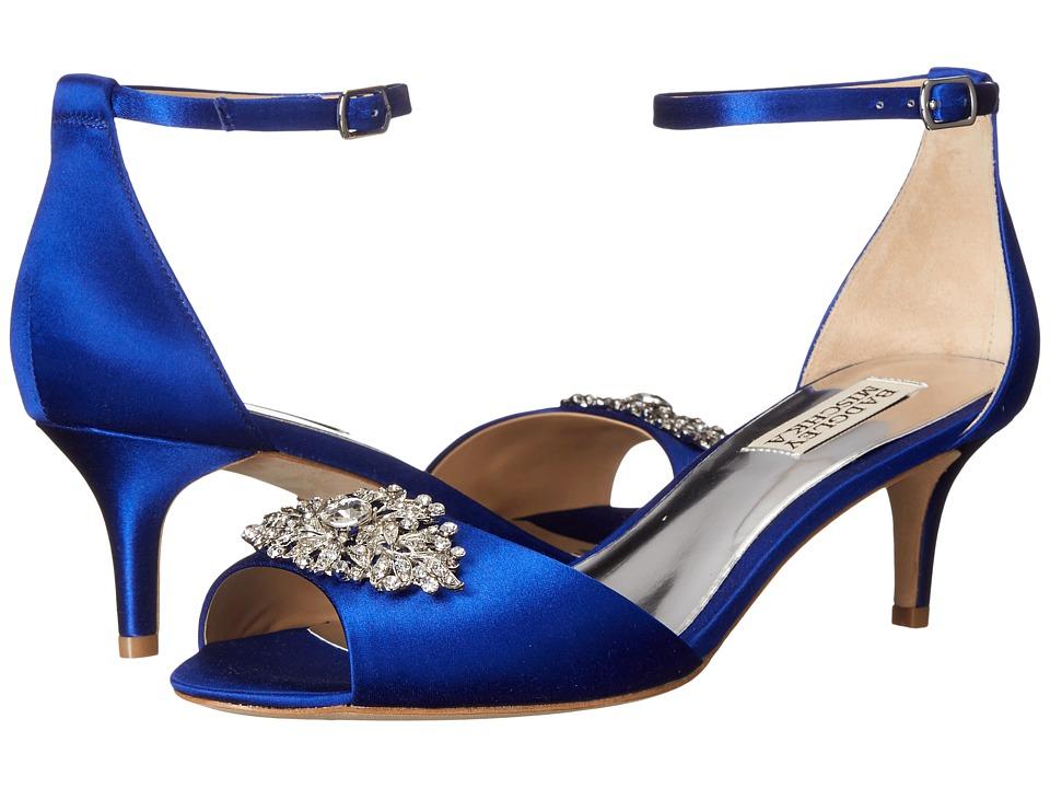 Badgley Mischka Acute Violet Satin Womens 1 2 inch heel Shoes