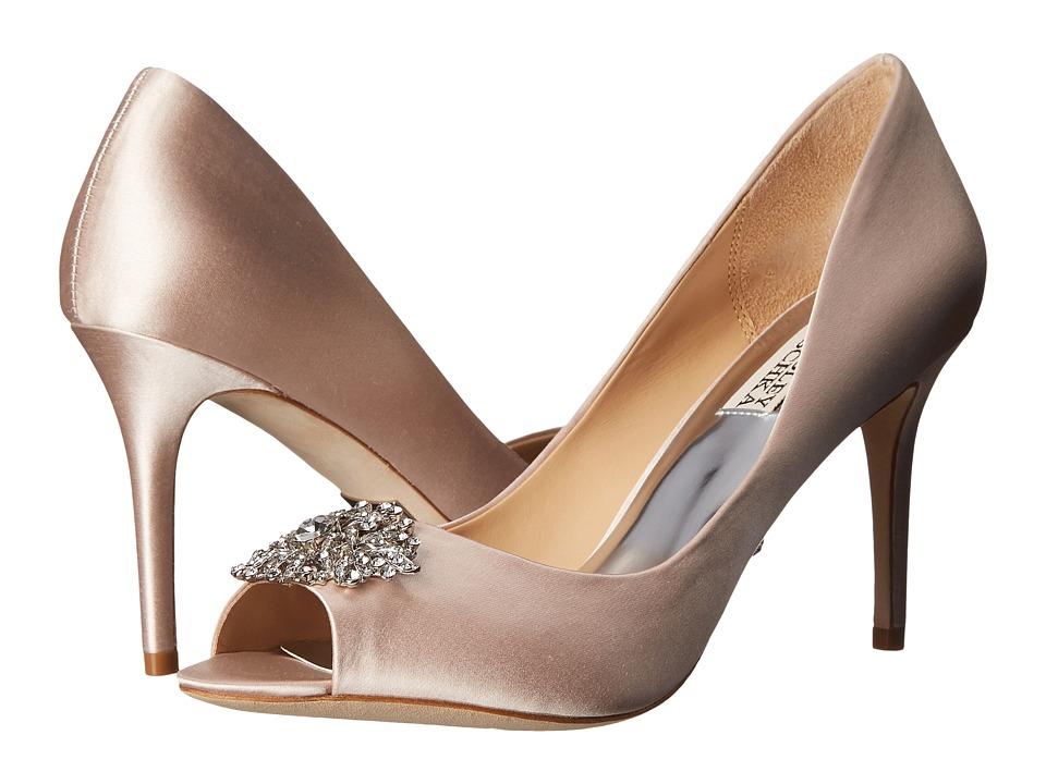 Badgley Mischka Accent Light Pink Satin High Heels