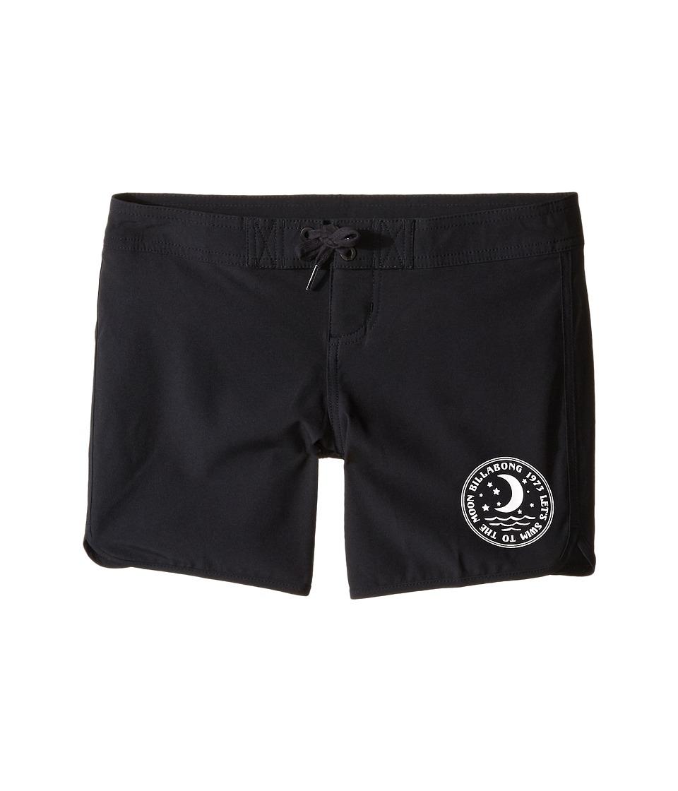 Billabong Kids Sol Searcher 5 Fixed Boardshorts Little Kids/Big Kids Black Sands Girls Swimwear