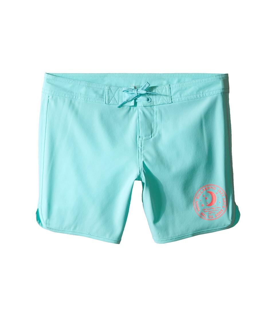 Billabong Kids Sol Searcher 5 Fixed Boardshorts Little Kids/Big Kids Surf Blue Girls Swimwear