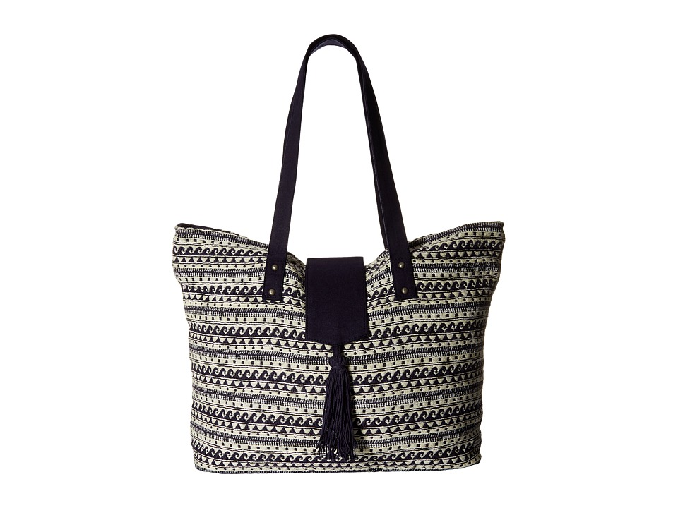 Roxy - Indian Sky Tote Bag (Wave Jacquard Combo/Sand Piper) Tote Handbags