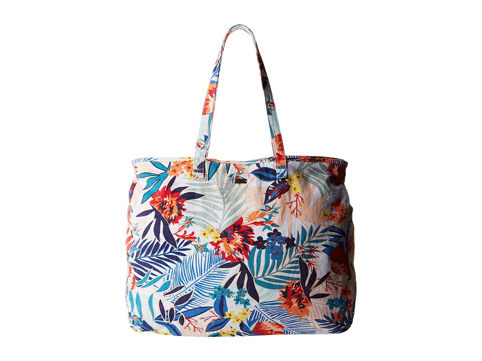 Roxy It Favorite Canary Islands Floral A/Combo Sand Piper Tote Handbags