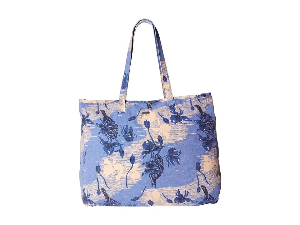 Roxy It Favorite Vintage Heritage Combo Chambray Tote Handbags