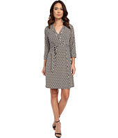 Laundry by Shelli Segal - Chain Glam' Matte Jersey Wrap Dress