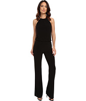 Laundry by Shelli Segal - Check Neck Blouson Jumpsuit