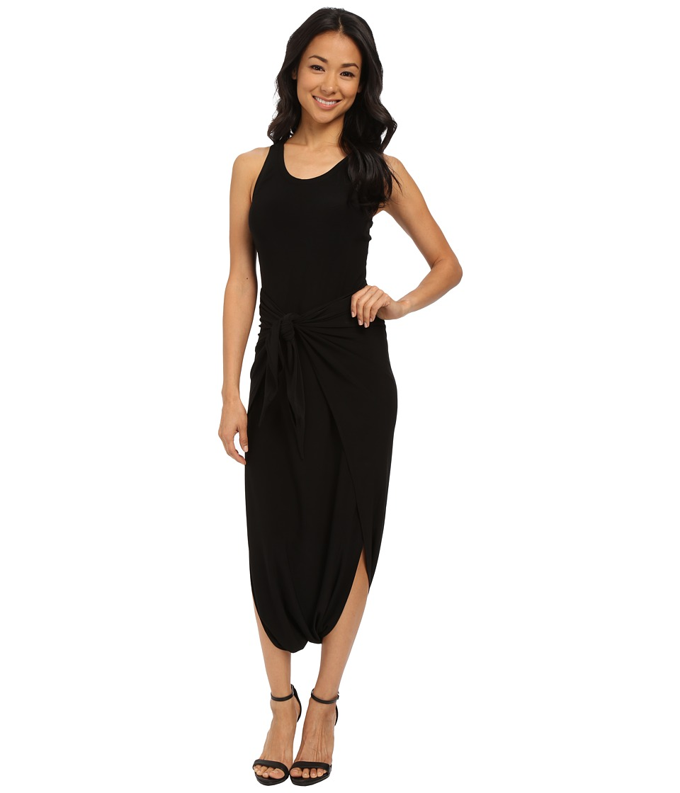 KAMALIKULTURE by Norma Kamali Racer Diaper Dress Black Womens Dress