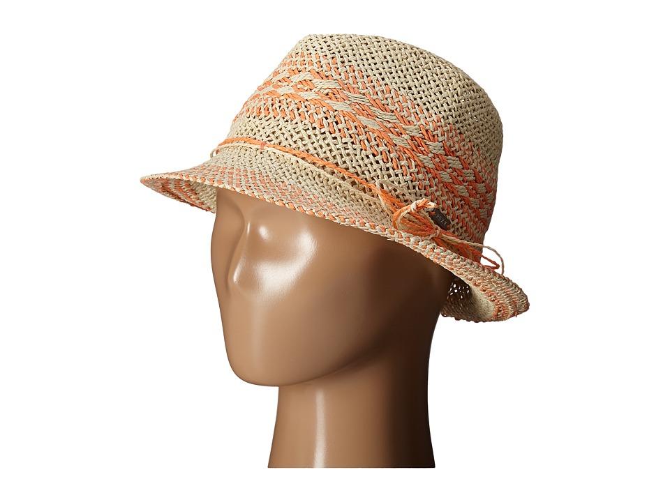 Roxy Big Swell Straw Fedora Hat Warm Sand Fedora Hats