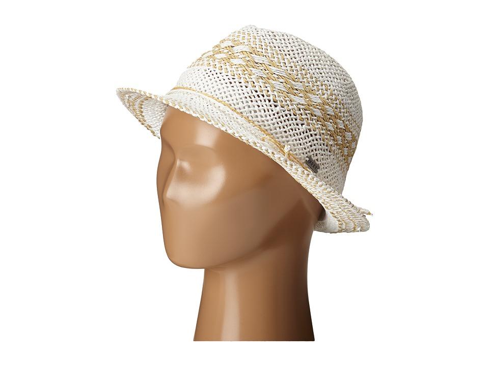 Roxy Big Swell Straw Fedora Hat White Fedora Hats