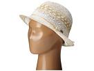 Roxy Big Swell Straw Fedora Hat (White)