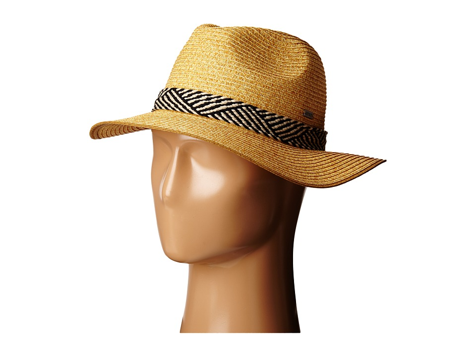 Roxy Beach Memories Straw Hat Natural Fedora Hats