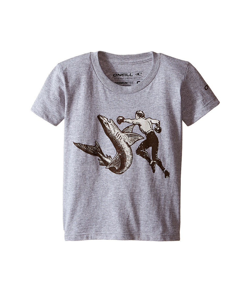 ONeill Kids Attack Short Sleeve Screen Tee Big Kids Medium Heather Grey Boys Short Sleeve Pullover