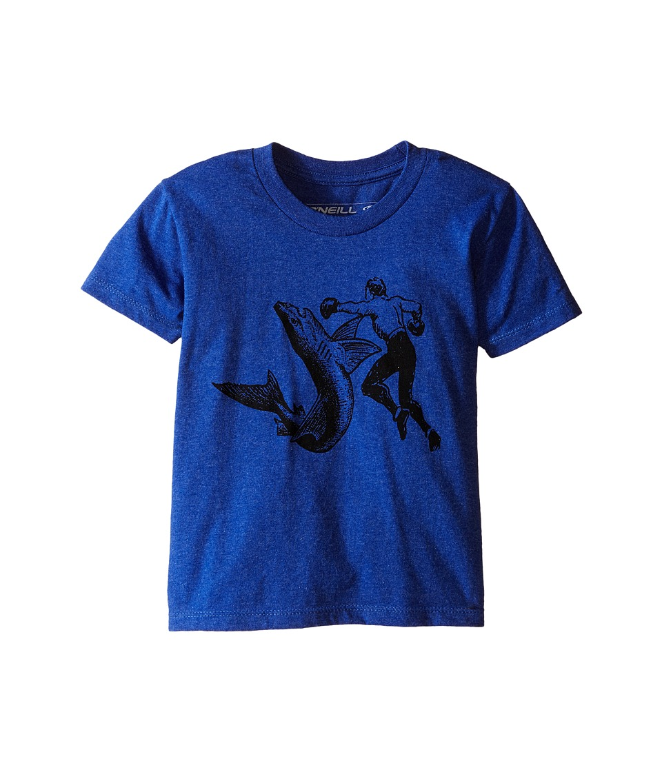 ONeill Kids Attack Short Sleeve Screen Tee Big Kids Sea Blue Boys Short Sleeve Pullover