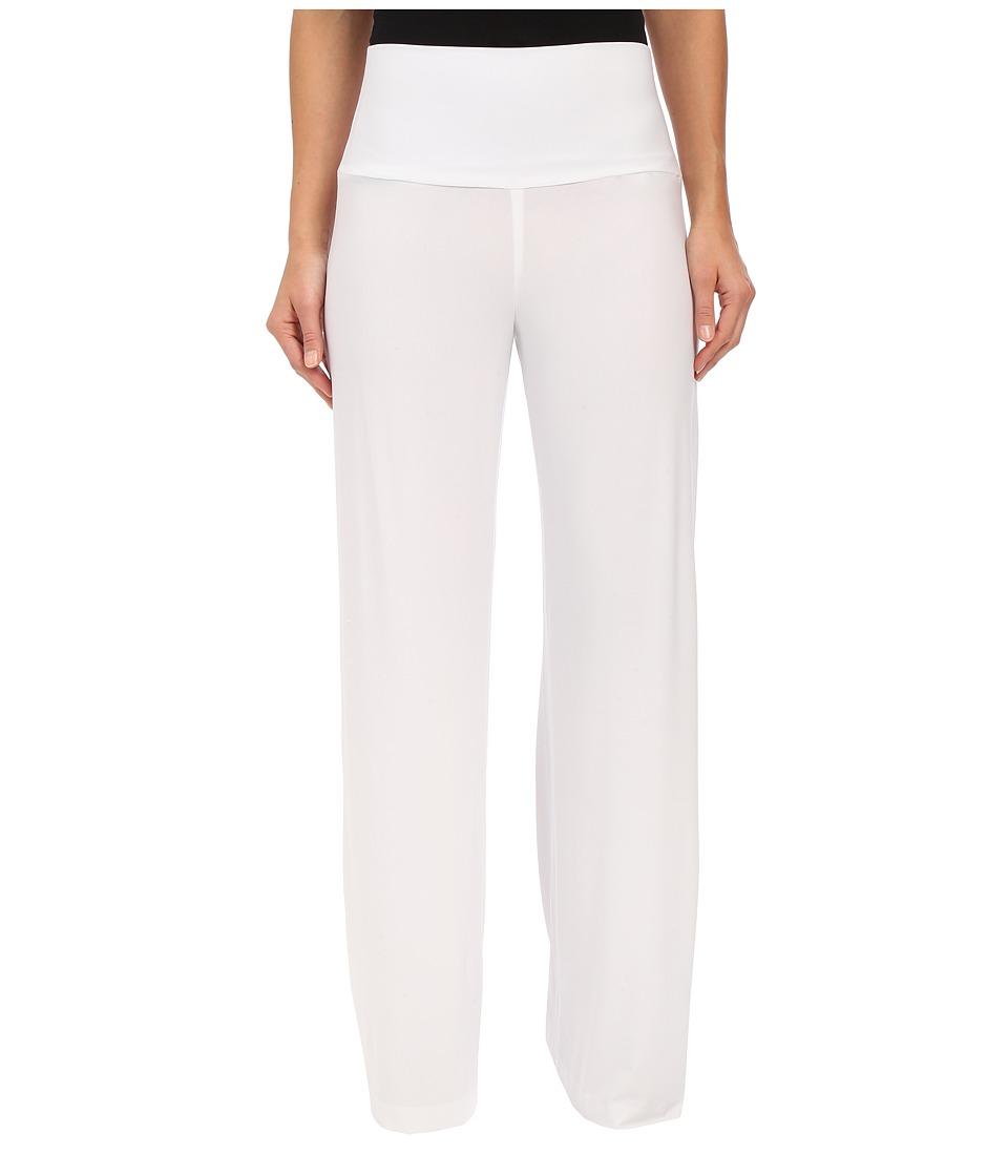 KAMALIKULTURE by Norma Kamali Straight Long Go Pants White Womens Casual Pants