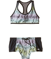 Hurley Kids - Fine Lines Crop Top & Shorts (Big Kids)