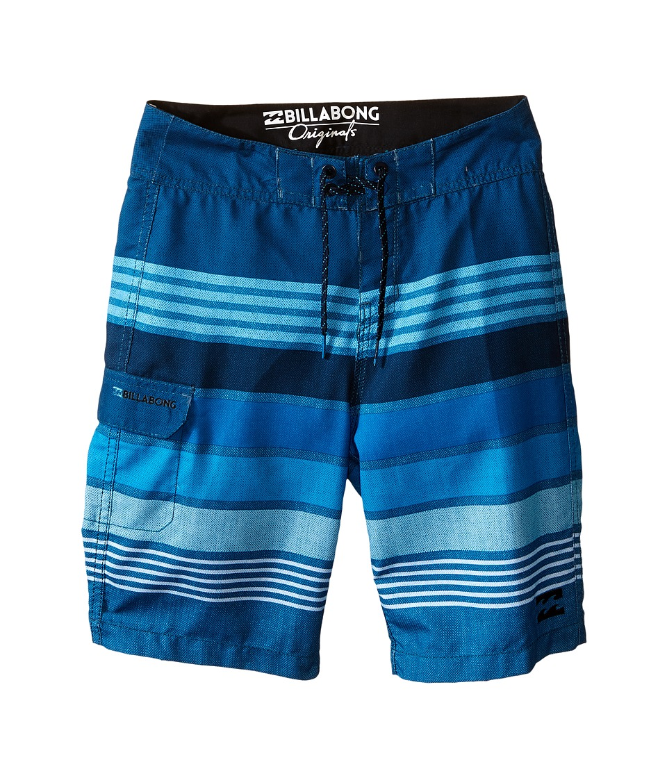 Billabong Kids All Day Stripe Big Kids Blue Boys Swimwear