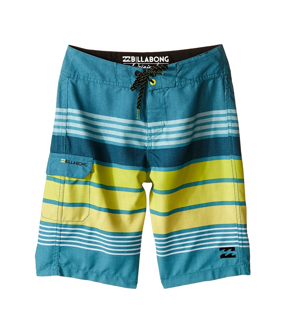 Billabong Kids All Day Stripe Big Kids Overcast Boys Swimwear