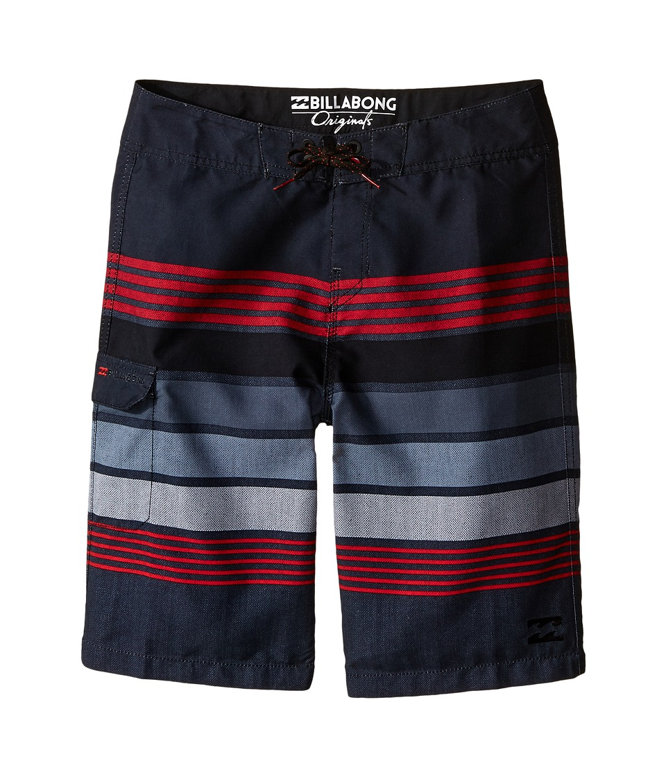 Billabong Kids All Day Stripe Big Kids Stealth Boys Swimwear