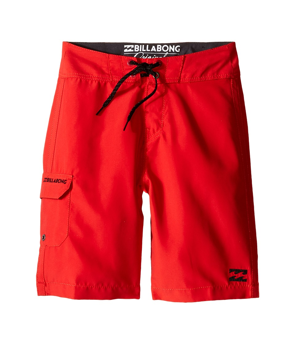 Billabong Kids All Day Boardshorts Big Kids Bright Red Boys Swimwear