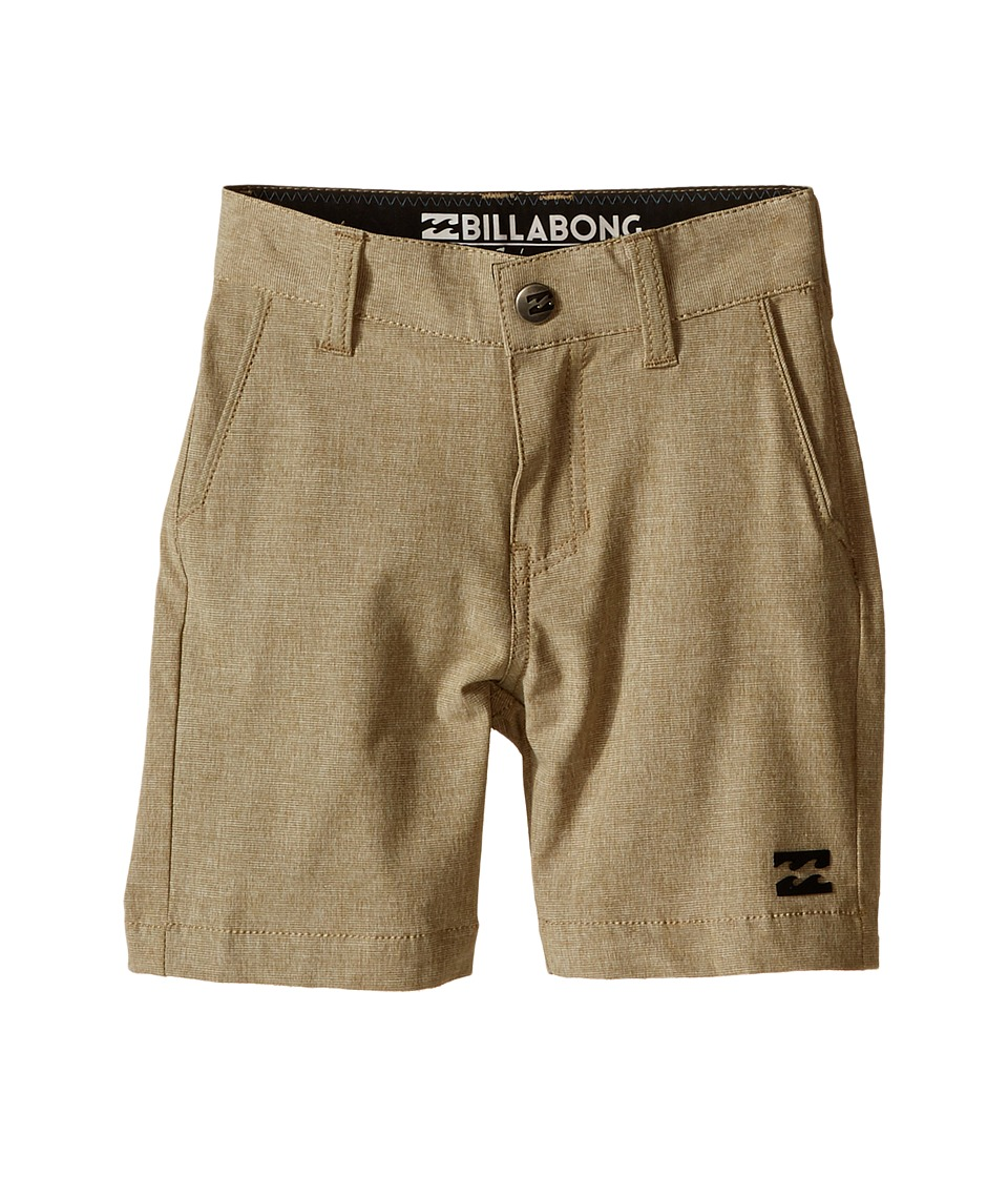 Billabong Kids Crossfire X Shorts Toddler/Little Kids Gravel Boys Shorts