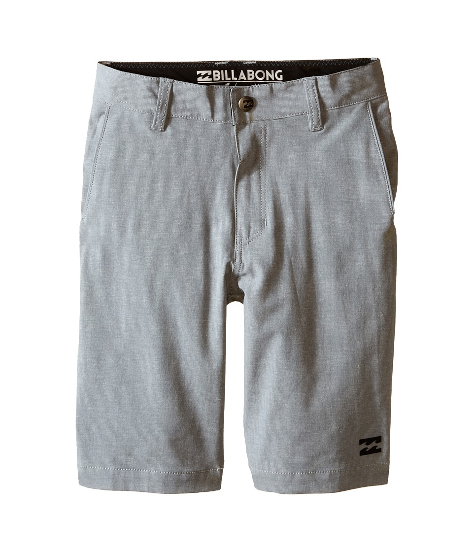 Billabong Kids Crossfire X Shorts Toddler/Little Kids Grey Boys Shorts