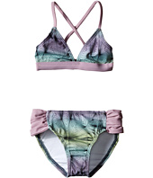 Hurley Kids - Fine Lines Halter Top & Tab Side Bottom (Little Kids)