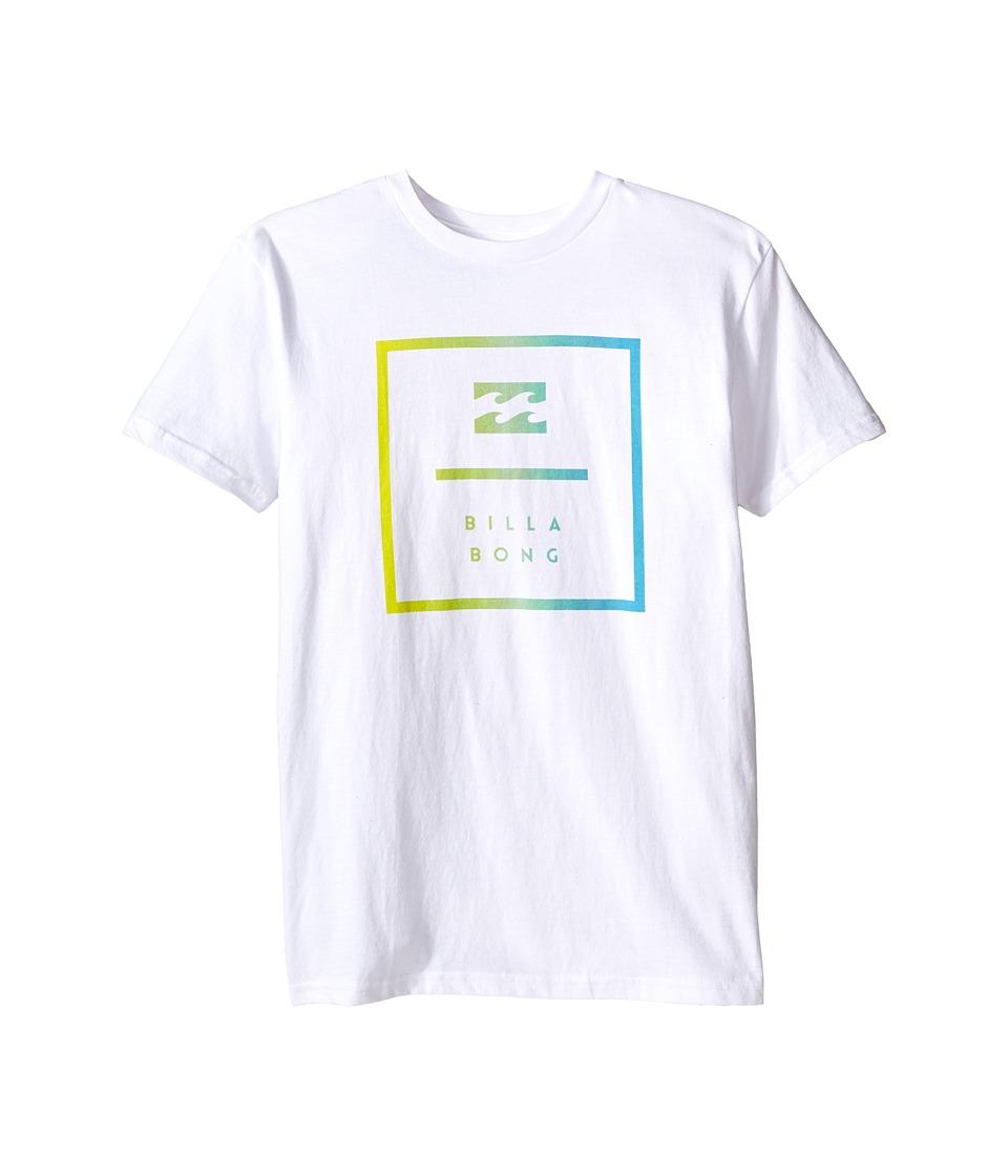 Billabong Kids - Block T-Shirt (Big Kids) (White) Boy