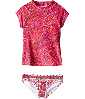 Billabong Kids - Penny Paisley Short Sleeve Rashguard Set (Little Kids/Big Kids)