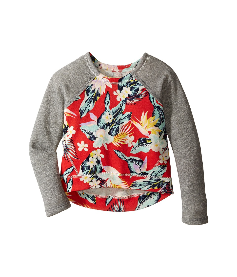 Billabong Kids Hear Me Out Pullover Crew Little Kids/Big Kids Hibiscus Girls Sweatshirt
