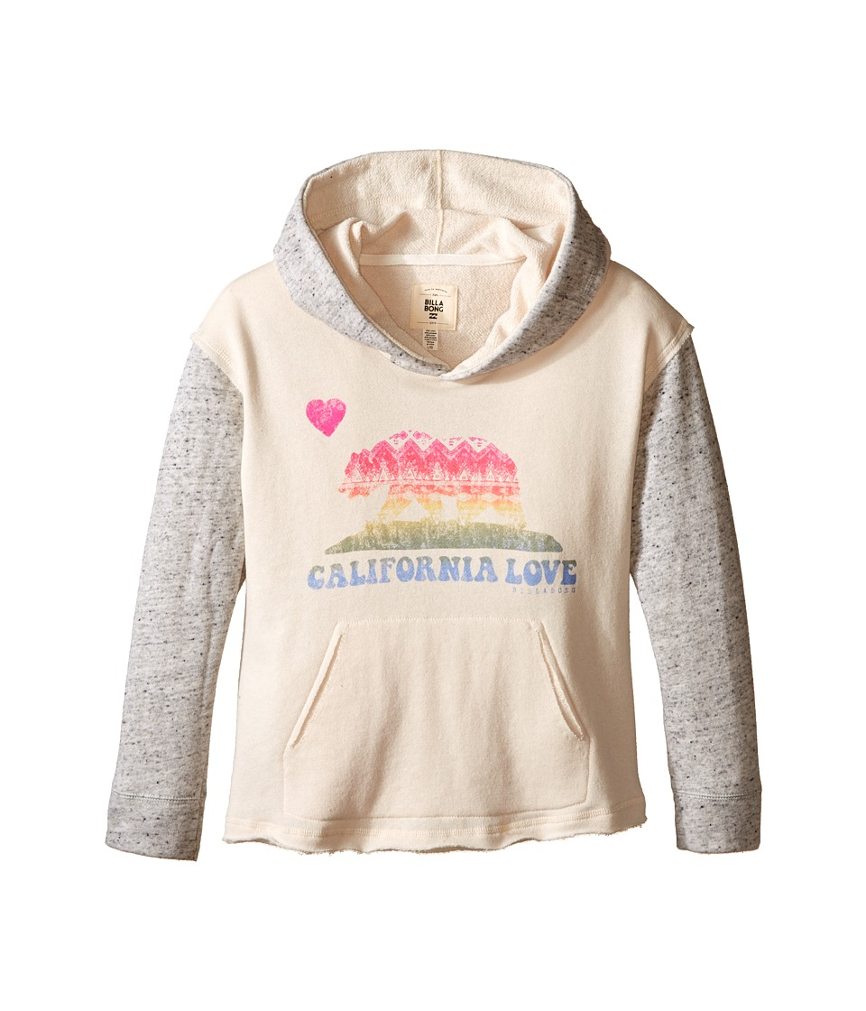 Billabong Kids Find Again Hoodie Little Kids/Big Kids White Cap Girls Sweatshirt
