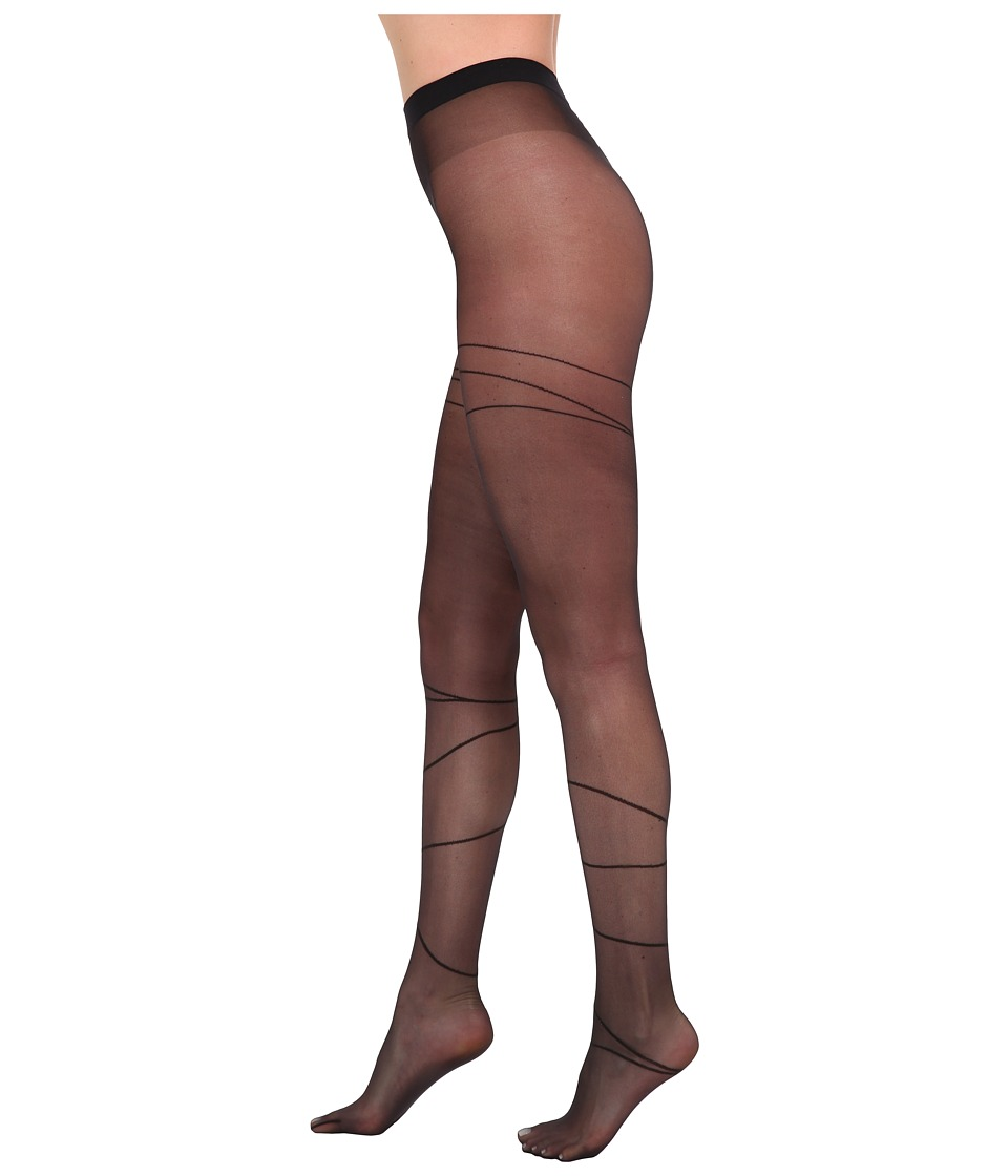 Wolford Allison Tights Black/Black Womens Workout